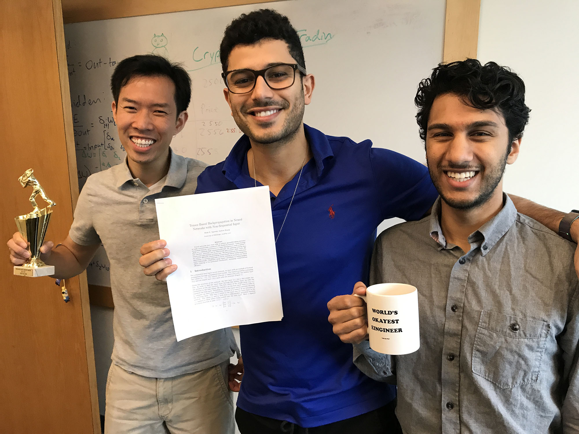 andplus innovation lab team abdul dremali, hirsh agarwal, andrew huang publishes first machine learning research
